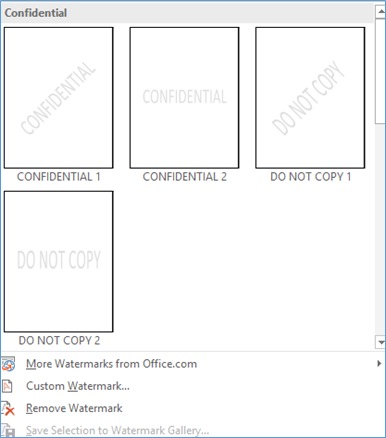 ms office remove watermark
